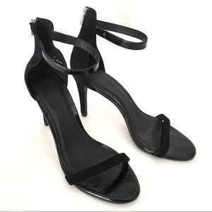 4b4b99a23384 JOIE Abbott Suede Patent Ankle Strap Sandal Heel